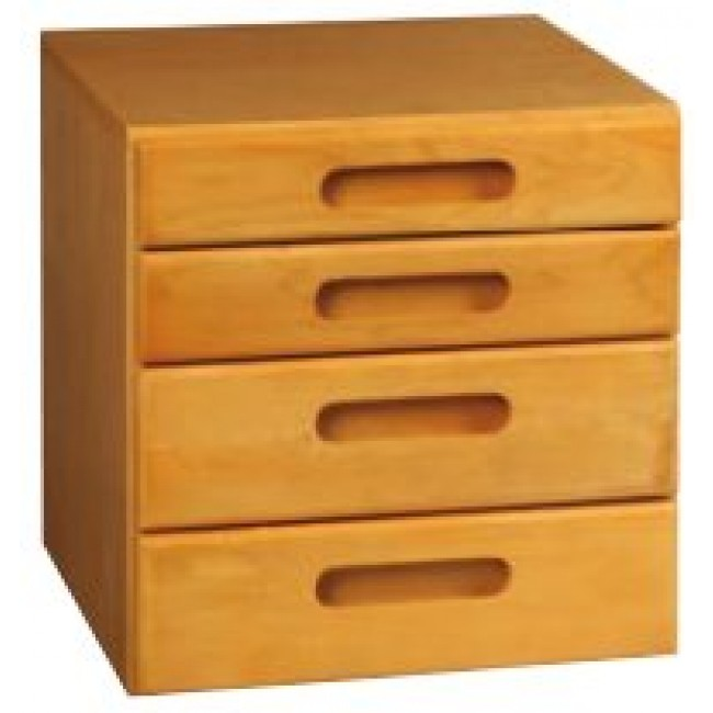 Amsec Four Drawer Wooden Stor It Cabinet Free Shipping
