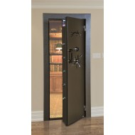 Amsec VD803XSF Vault Door - Textured Black with Brass hardware as Shown